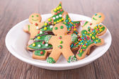 Assortment of gingerbread cookies — Stock Photo