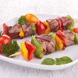 Stock Photo: Beef skewer