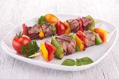 Beef skewer — Stock Photo