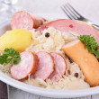Plate of sauerkraut — Stock Photo