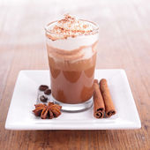 Coffee or chocolate with cream — Foto Stock