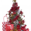 Christmas tree and decoration — Stockfoto