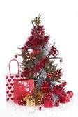 Kerstboom en decoratie — Stockfoto