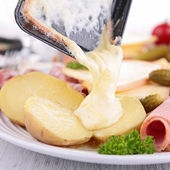 Raclette pan, fondue — Photo