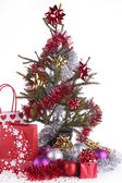 Christmas fir and presents — Foto de Stock