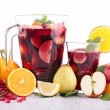 Fruit sangria, punch — Stock Photo