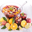 Stock Photo: Fruit sangria, punch