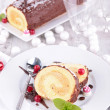 Christmas pastry, Yule log — Stock Photo #37107425