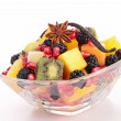 Bowl of fruit salad — Stock Photo