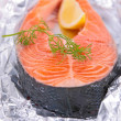 Grilled salmon steak — Stock Photo #37626331