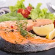 Grilled salmon steak — Stock Photo #37626749
