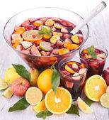 Fruit punch, sangria — Stock Photo
