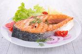 Grilled steak salmon — Stock Photo