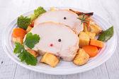 Arrosto di maiale e verdure — Foto Stock