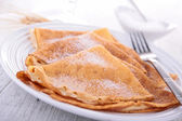 Crepes with sugar — Stok fotoğraf