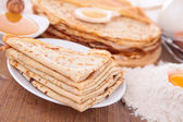 Crepes with ingredients — Stock Photo