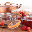 Strawberry jam — Stock Photo