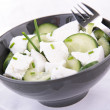 Vegetable salad with cucumber — Stock Photo