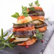 Stock Photo: Ratatouille, vegetable baked, tian