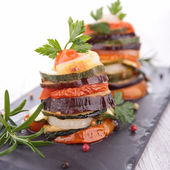 Ratatouille, vegetable baked, tian — Stock Photo