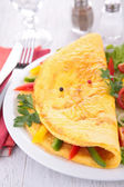 Omelette and vegetables — Stock Photo