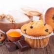 Muffin and ingredient — Stock Photo #41250251
