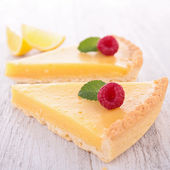 Lemon citrus tart — Stock Photo