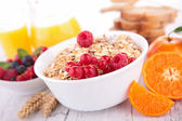 Muesli and fruit — Stock Photo