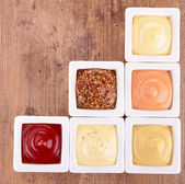 Collection of sauce — Stock Photo