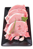 Raw pork chop — Stock Photo