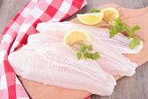 Syrové rybí filé — Stock fotografie