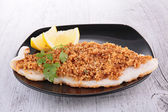 Fish and crumb — Stock Photo