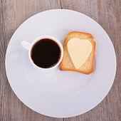 Coffee and toast — Stock Photo
