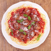 Spaghetti and beef — Stockfoto