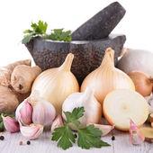 Garlic,onion bulb — Stock Photo