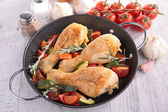 Casserole with chicken — Zdjęcie stockowe