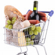 Full grocery cart — Stock Photo #44684025