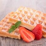 Waffle and strawberry — Stock Photo #44807269