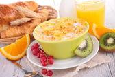 Bowl of cornflakes — Stock Photo