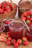 Strawberry jam — Stock fotografie