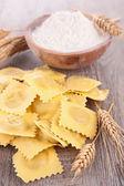 Raw ravioli — Stock Photo
