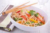 Bowl of chinese soup — Stock Photo