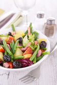 Salad with green bean — Stock Photo