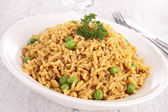 Rice and pea — Stock Photo