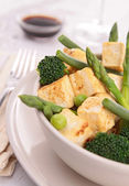 Tofu and vegetable — Stock Photo