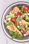 Salad with grilled vegetables — Stock Photo