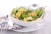 Salad with corn and cucumber — ストック写真