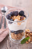 Muesli, yogurt and blueberry — Stock Photo