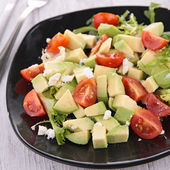 Avocado salad with tomato — Stok fotoğraf