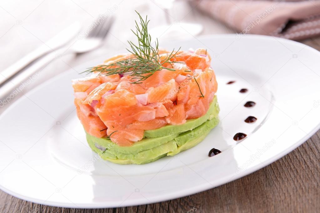Тартар с лососем и авокадо рецепт